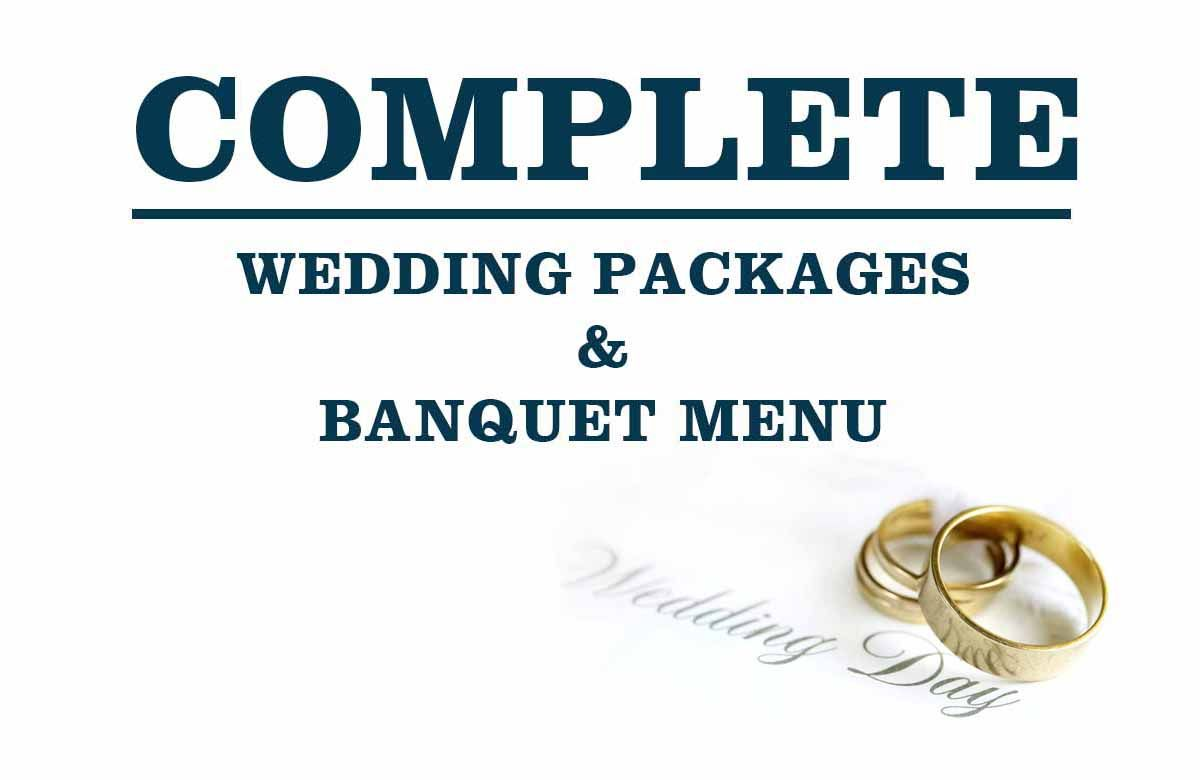 Complete List of Wedding Packages